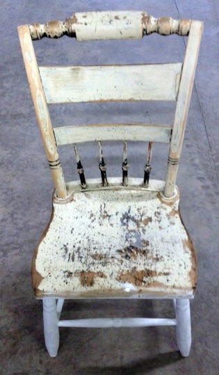 Stripped chair