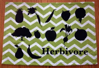 Completed herbivore foods placemat