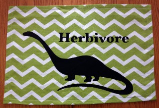 Completed herbivore dino placemat