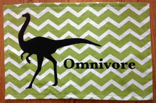 Completed omnivore dino placemat